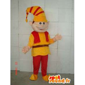 Clown mascot - Lutin - Suit for Christmas celebrations - MASFR00118 - Christmas mascots