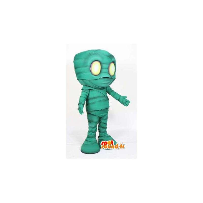 Green mascot mummy - mummy costume cartoon - MASFR003507 - Missing animal mascots