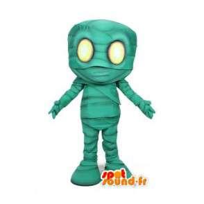 Mascotte de momie verte - Déguisement de momie de dessin animé - MASFR003507 - Mascottes animaux disparus