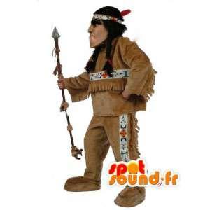 Indian Maskottchen mit Zöpfen - Indian Kostüme - MASFR003510 - Menschliche Maskottchen
