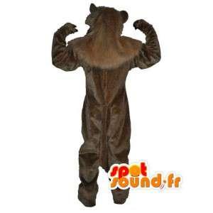 Plysch beige lejonmaskot - lejondräkt - Spotsound maskot