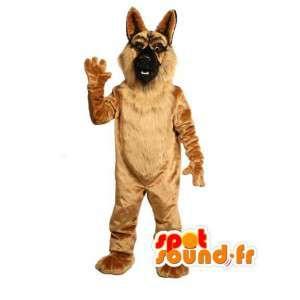 Meget realistisk tysk hyrde maskot - hundedragt - Spotsound
