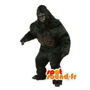 Nero gorilla realistico mascotte - Costume Gorilla Bianco - MASFR003519 - Mascotte gorilla