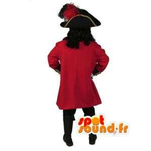 Mascot red pirate - Pirate Captain Kostuum - MASFR003520 - mascottes Pirates