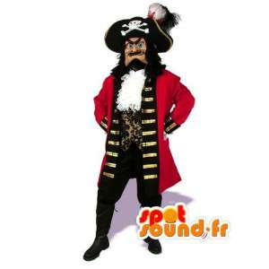 Rød pirat maskot - Pirat kaptajn kostume - Spotsound maskot
