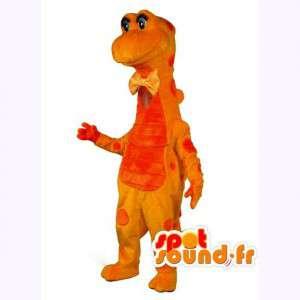 Maskottchen-orange und gelbe Dinosaurier - Dinosaurier-Kostüm - MASFR003529 - Maskottchen-Dinosaurier
