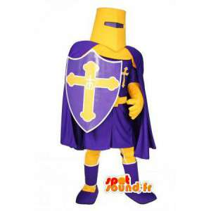 Knight mascot purple and yellow - Knight Costume