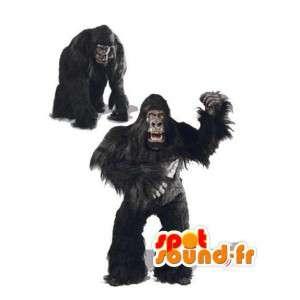 Mascot realistinen gorilla musta - musta gorilla puku