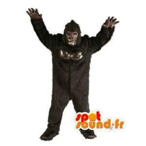 Negro mascota gorila muy realista - Negro Gorila Traje