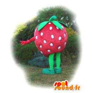 Tvarovaná maskot obří jahoda - jahodový kostým