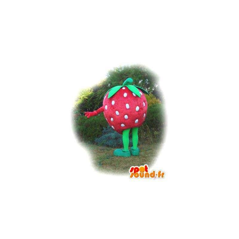 Tvarovaná maskot obří jahoda - jahodový kostým - MASFR003546 - fruit Maskot