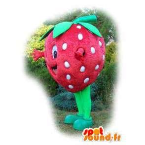 Mascot shaped giant strawberry - Strawberry Costume - MASFR003546 - Fruit mascot