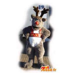 Mascotte de renne du père Noël - Déguisement de renne marron - MASFR003550 - Mascottes Noël