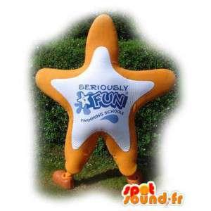 Mascot vormige oranje reuzester - Star Costume - MASFR003553 - Niet-ingedeelde Mascottes