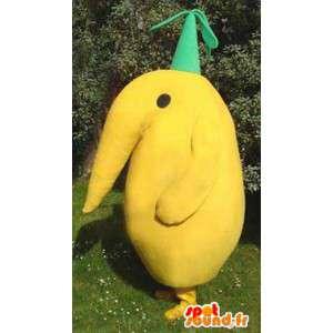 Mascot pássaro amarelo - traje pássaro amarelo