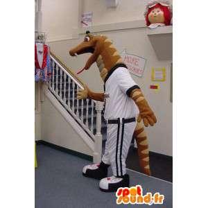 Mascotte de serpent sportif - Costume de baseball - MASFR003560 - Mascotte sportives