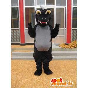 Δεινόσαυρος μασκότ - Μεταμφίεση μαύρο Στεγόσαυρος - Τζουράσικ