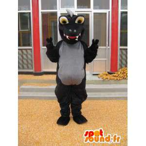 Dinosaur maskot - Svart Stegosaurus kostym - Jurassic -