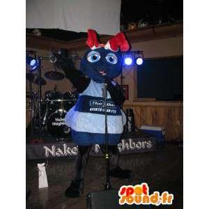 Mascotte blauw reuzemier - Ant Suit