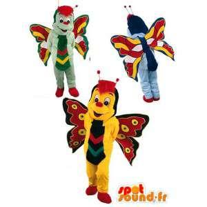Kostüme Schmetterlinge - Packung mit 3 Anzüge Schmetterling