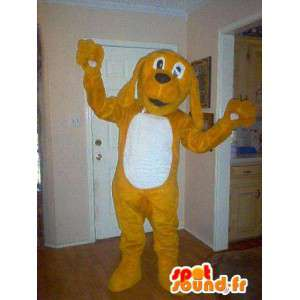 Dog mascot Tequel brown and white - Disguise Dog - MASFR003590 - Dog mascots