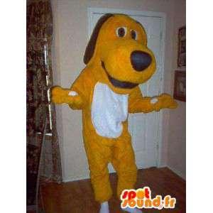 Mascot geel en wit Tequel - Dog Costume Plush - MASFR003592 - Dog Mascottes