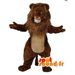 Lion mascot plush brown - giant lion costume - MASFR003598 - Lion mascots