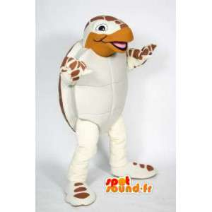 Mascot tortuga blanca y marrón - Turtle vestuario - MASFR003606 - Tortuga de mascotas