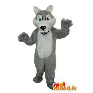 Terno cão cinzento - cinza mascote do cão  - MASFR003611 - Mascotes cão