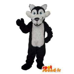 Nero costume cane bianco - Abito cane farcito  - MASFR003612 - Mascotte cane