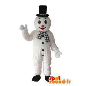 Mascotte wit zwart beren, rode neus - Bear Suit - MASFR003636 - Bear Mascot