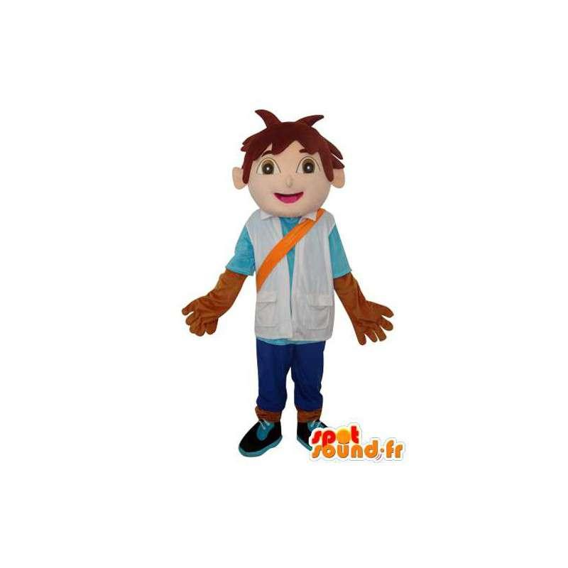 Mascot Asian boy brown hair - Costume character - MASFR003640 - Mascots boys and girls