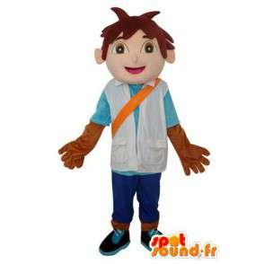 Pelo castaño Mascot Muchacho asiático - personaje de vestuario - MASFR003640 - Chicas y chicos de mascotas