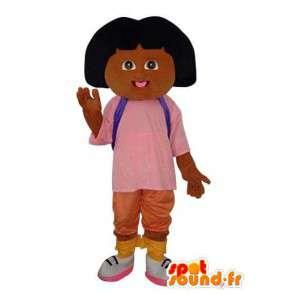 Mascota de la muchacha de la felpa marrón - personaje de vestuario - MASFR003642 - Chicas y chicos de mascotas