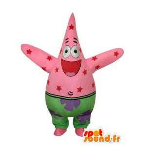 Mascot mit mehrfarbigen Mustern roten Sternen