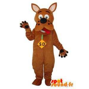 Mascot ruskea Scooby Doo - Scooby Doo puku ruskea