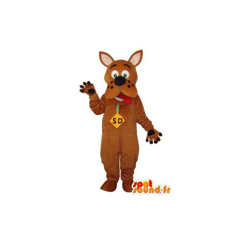Mascot marrom Scooby Doo - Scooby Doo traje marrom - MASFR003656 - Mascotes Scooby Doo