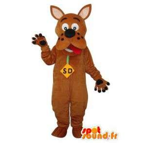 Mascot ruskea Scooby Doo - Scooby Doo puku ruskea - MASFR003656 - Maskotteja Scooby Doo