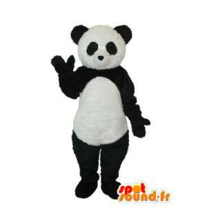 Sort hvid panda maskot - Panda kostume - Spotsound maskot