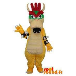 Folk hippo mascot - Costume animal - MASFR003667 - Mascots hippopotamus