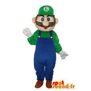 Luigi μασκότ χαρακτήρα - κοστούμι χαρακτήρα του παιχνιδιού