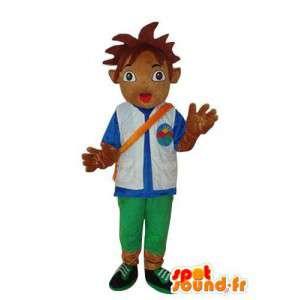 Menino Mascot em pelúcia marrom - Trajes de caracteres - MASFR003673 - Mascotes Boys and Girls