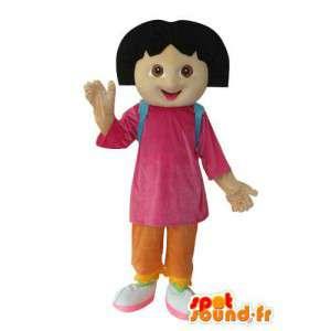 Felpa de la mascota de la muchacha - personaje de vestuario