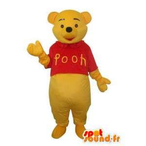 Dog Mascot pluche geel en rood  - MASFR003675 - Dog Mascottes