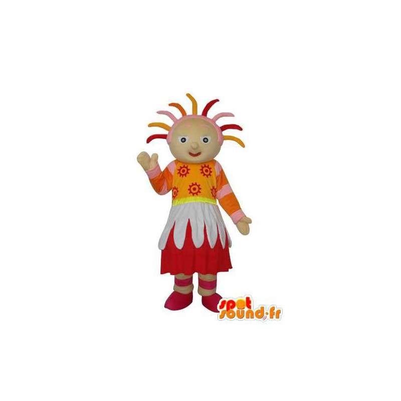 Folk stuffed mascot representing a girl - MASFR003676 - Mascots boys and girls