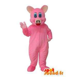 Γουρούνι μασκότ βελούδου ροζ χοίρου - μεταμφίεση