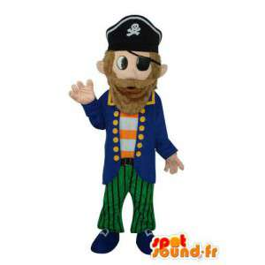 Mascot pirata carácter felpa mar - MASFR003678 - Mascotas de los piratas