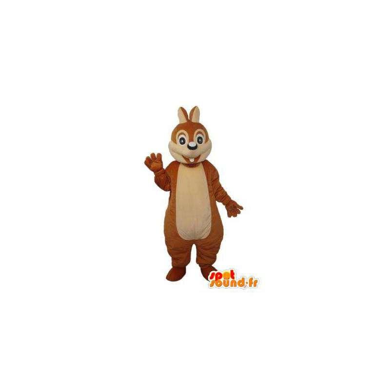 Brown rabbit mascot pure and clear - rabbit costume - MASFR003683 - Rabbit mascot