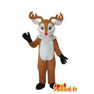 Verkleidung von braunen und weißen Hirsch - Reh-Outfit - MASFR003686 - Maskottchen Hirsch und DOE