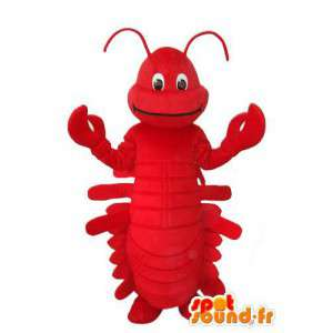 Déguisement homard rouge uni - Mascotte homard